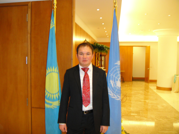 At the headquarters of the Permanent Mission of Kazakhstan to the UN (New York, USA, 2010)